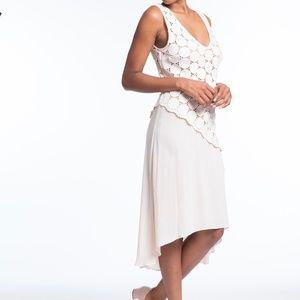 Tracy Reese Combo Dress Optic White